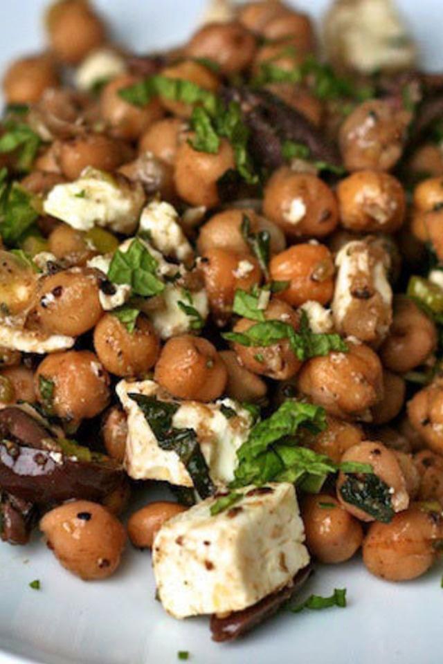 Chickpea Salad with Cumin Vinaigrette   Yummy Ideas   Pinterest