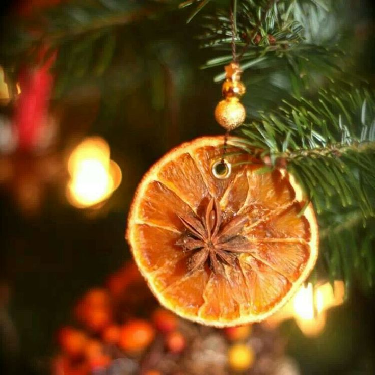 Christmas Decorations With Orange: Orange Ornament