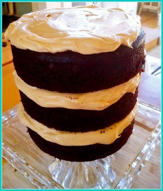 choco cake with salted caramel frosting | food | Pinterest