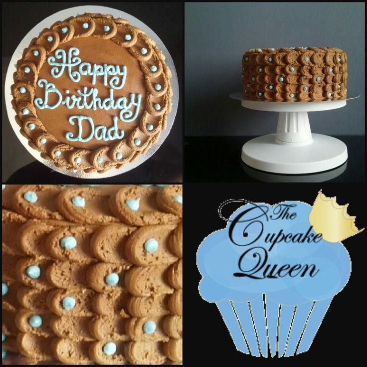 chocolate birthday cake with buttercream
