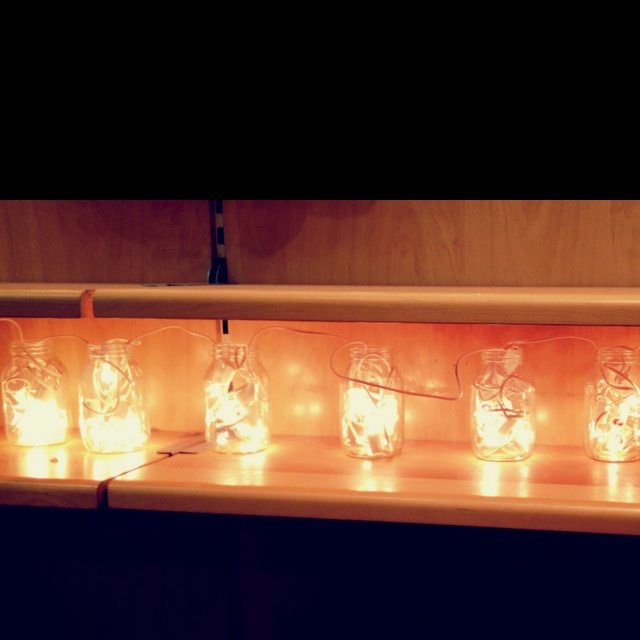 Christmas lights in glass jars inspiring pinterest for Christmas glass jars