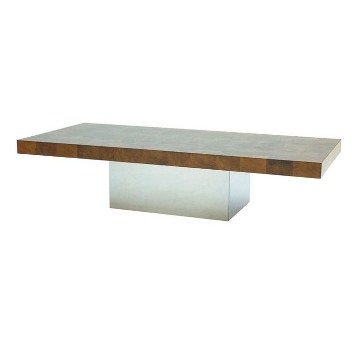 and patinated brass coffee table designedmilo baughman at