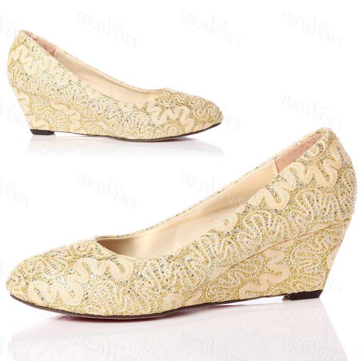 comfortable wedge heel embroidery shoes