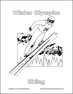 olympic coloring pages printable olympic coloring pages 2014 winter    Winter Olympic Coloring Pages