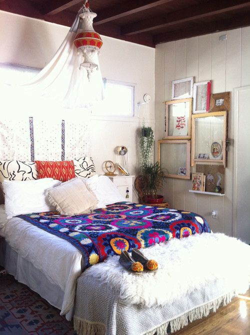 eclectic boho style bedroom exotic bohemian decor pinterest