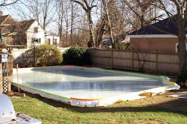backyard ice rink tarp