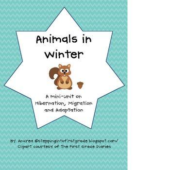 Animal Hibernation and Migration Worksheets