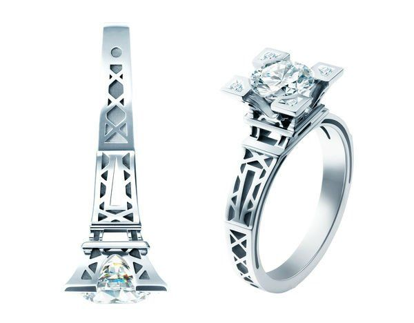 eiffel tower ring accessories pinterest