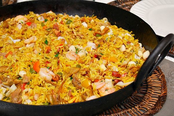 Chicken & Seafood Paella by Joelen of What's Cookin, Chicago