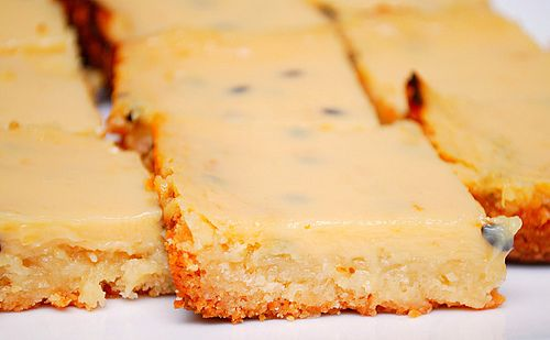 passion fruit bars | Delicious Yumminess | Pinterest