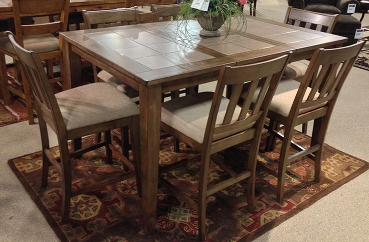 Pin by ashley furniture richland wa tricities on for Kitchen table with leaf insert