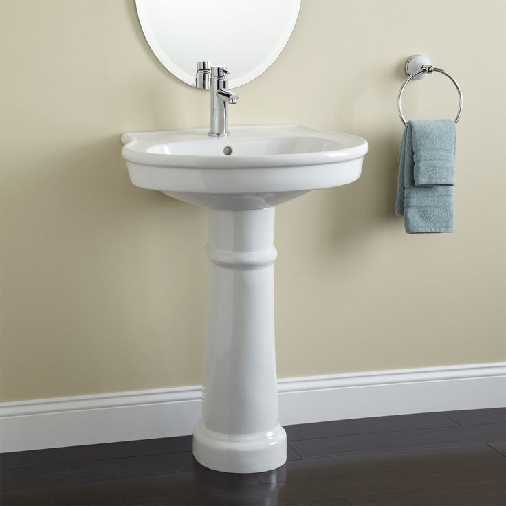 Pedestal Sinks For Small Bathrooms : Therese Pedestal Sink. small bathroom making a home. Pinterest