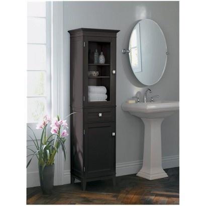 Simple Elegant Home Fashions Madison Avenue 2Door Floor Cabinet  White