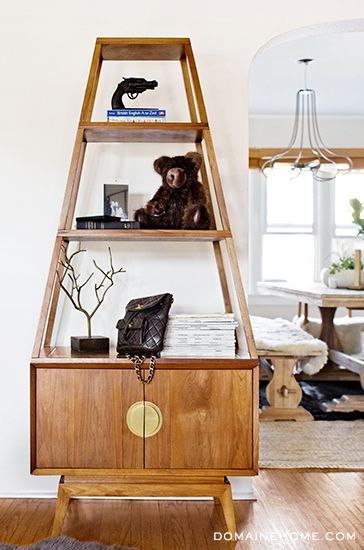 Fashion Toast's Rumi Neely Invites Us Into Her Hip LA Home // Etagere and teddy bear