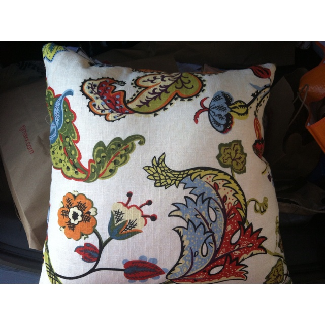 Sofa cushion from tj maxx | On the Cheap/Thrifty Side of Design/& a f