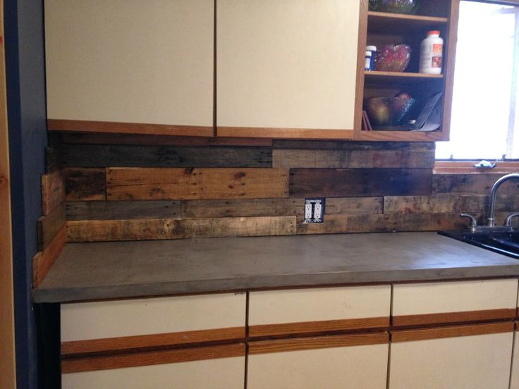 diy pallet backsplash in kitchen the cheapest backsplash you will