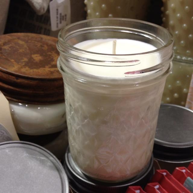 Ball jar candle