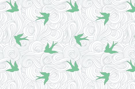 Take Flight, in Overcast Calm fabric by sparrowsong on Spoonflower - custom fabric
