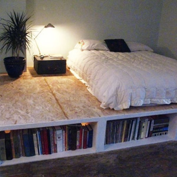look diy platform bed with storage diy pinterest