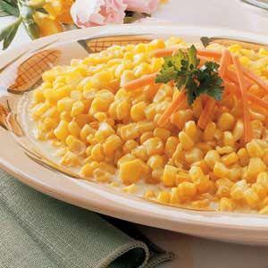 creamy sweet corn recipe from Taste of Home