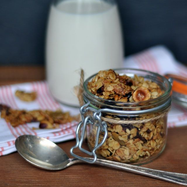 Maple-Olive Oil Granola with Cocoa Nibs, Hazelnuts and Dried Cherries ...
