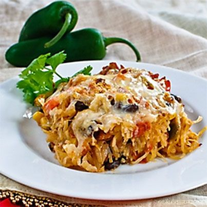 Mexican Baked Spaghetti Squash | Mexican food | Pinterest