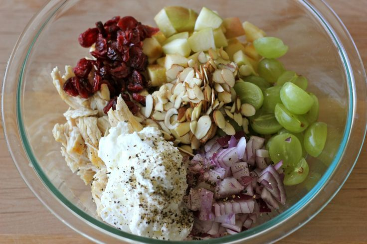 Greek Yogurt Chicken Salad Sandwich - From the plump grapes to the ...