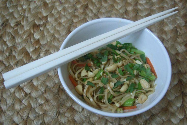Sesame Noodles with Thai Basil | Recipe