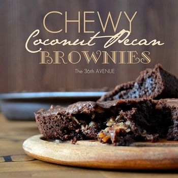 Chewy Coconut Pecan Brownies | Chewy chewy chewy | Pinterest