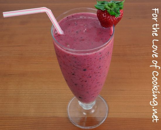 Mixed Berry, Banana, and Yogurt Smoothie from For the Love of Cooking ...