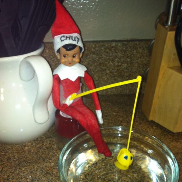 Elf On A Shelf Fishing Elf Pinterest