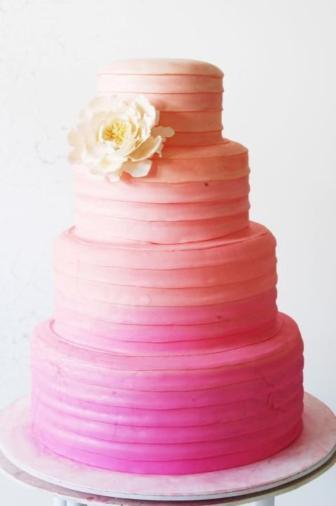 Ombré wedding cake by Ixora