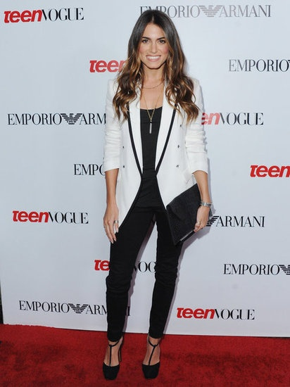 Monday: Kick off your workweek with Nikki Reed's sleek black-and-white ...