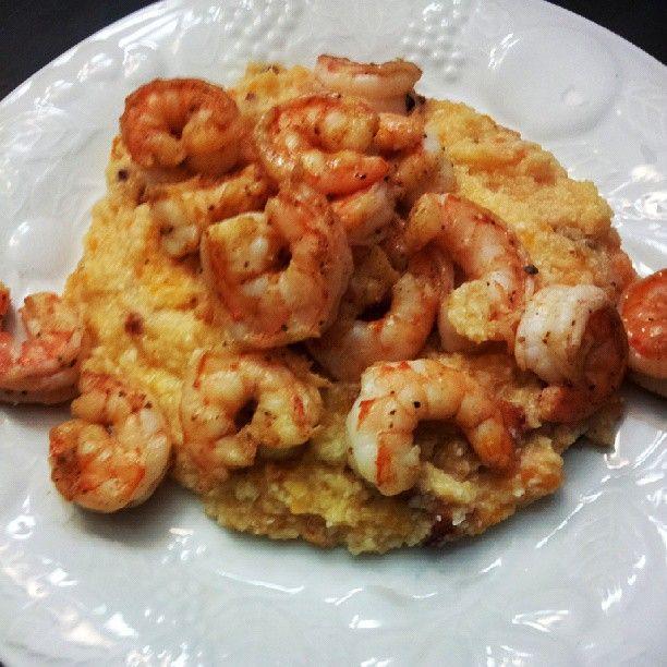 ... Cajun Shrimp and Grits (grits are really cauliflower & sweet potato
