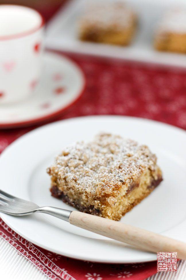 Raspberry Cocoa Nib Coffee Cake with Hazelnut Streusel | Recipe