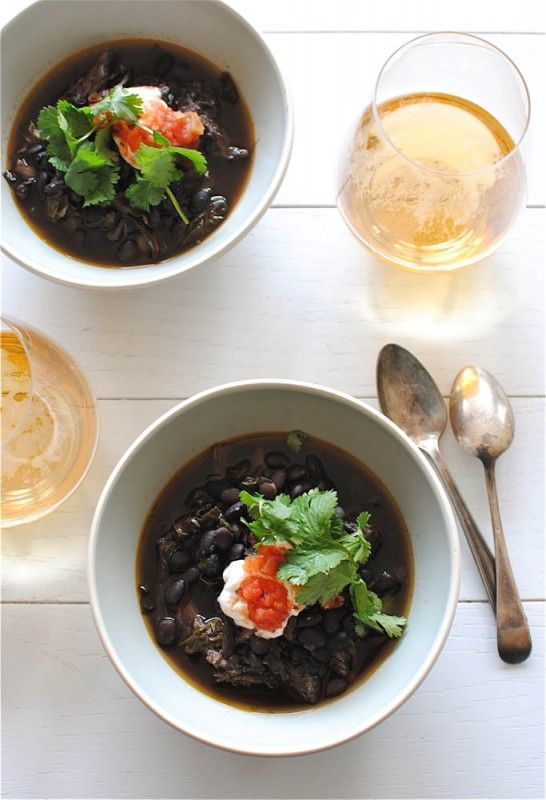black bean and pork soup.