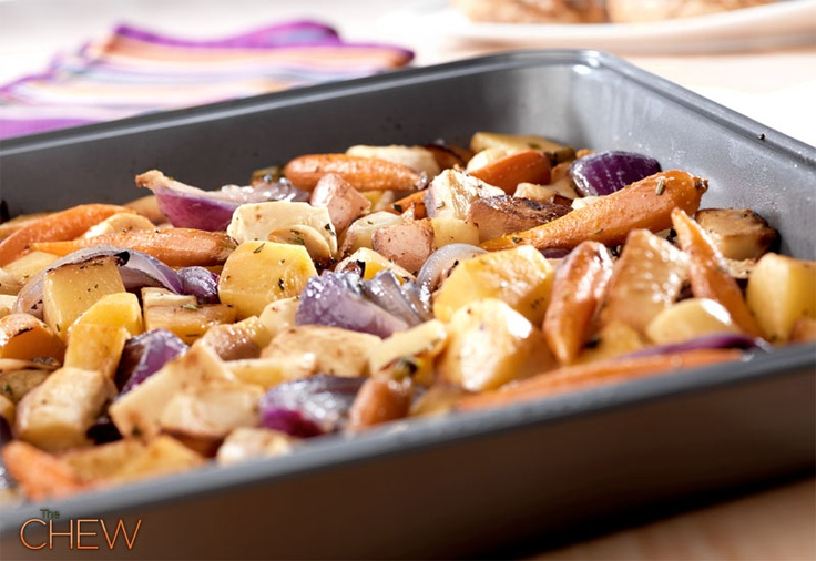 Oven-Roasted Root Vegetables #thechew