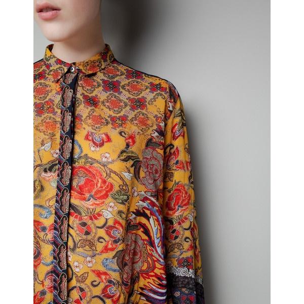 Zara Oriental Print Blouse 99