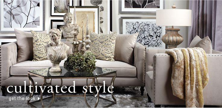 neutral z gallerie living room white dreams pinterest