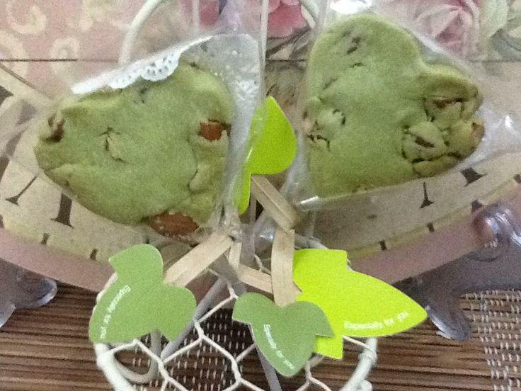 Matcha Almond Cookies   Teacher Gifts   Pinterest