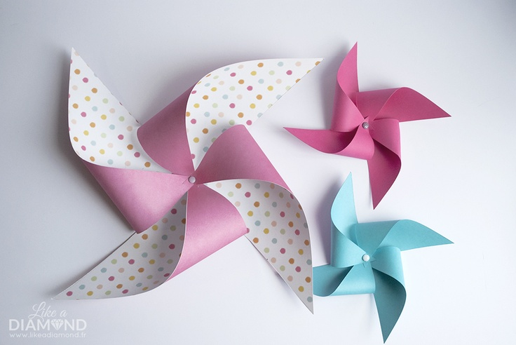 diy-moulin-vent-papier-pinewheel-1  Tutorials  Pinterest
