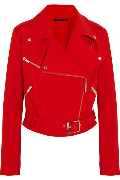 Shop now: Christopher Kane Red Moto Jacket