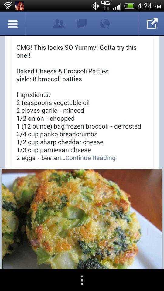 Cheese & broccoli paties, mmm