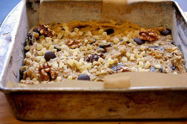 Ginger Walnut Chocolate Blondies Recipe — Dishmaps