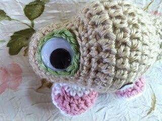 Make your very own crochet marcel the shell with shoes http