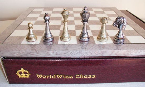 Metal chess set. www.thegamesupply.com/metalchesssets