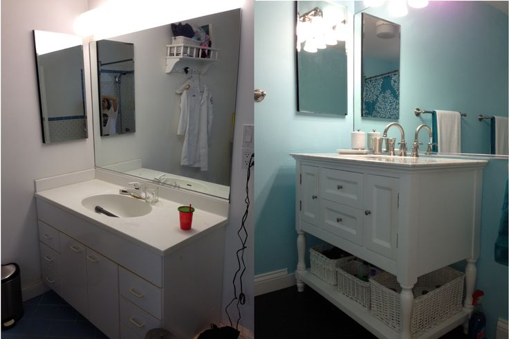 Vanity | Before and After Bathroom Redo | Pinterest