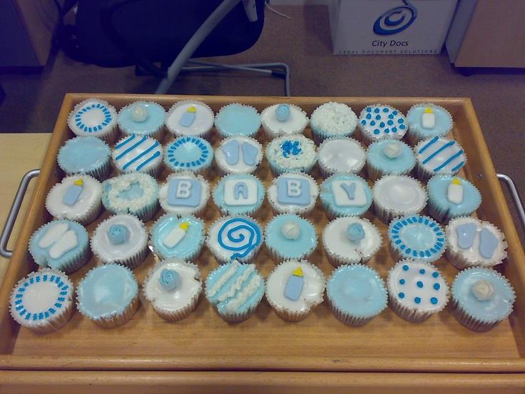Baby Shower Cupcake Ideas Boy : baby boy cupcakes Baby Boy Shower Ideas Pinterest