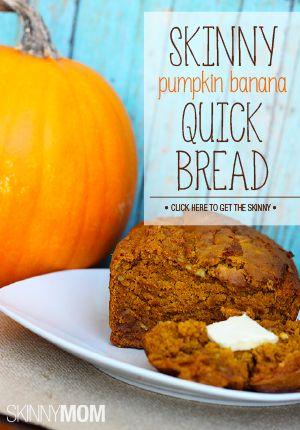Skinny Pumpkin Banana Quick Bread | Recipe