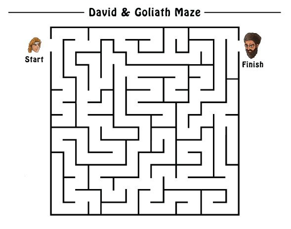David and Goliath Maze Enjoy even more puzzles by ordering your Gracemats today! http ...